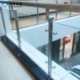 Diseño del pasamano del acero inoxidable del vidrio de placa doble de la seguridad para el edificio