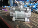 3PC de Kogelklep van de Las van de Contactdoos van het roestvrij staal 1000wog
