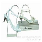 Crémaillère tournante acrylique en plastique claire faite sur commande de chaussure