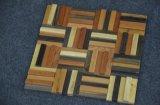 Mezcla de estilo rústico de madera de color de raya mosaico Mosaico de madera de barco antigua