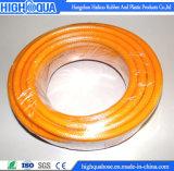 Boyau tressé de tissu-renforcé non-toxique de PVC de boyau de jardin de PVC