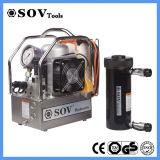 二重代理の空のプランジャ油圧オイルシリンダー200トン