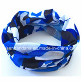 مصنع إنتاج صنع وفقا لطلب الزّبون طبعة زرقاء تمويه بوليستر عنق مسخّن [تثبنا]