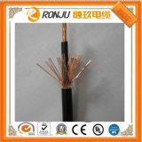 cabo de controle flexível recuado trançado Sheathed PVC resistente ao calor do cabo de fio do condutor do cobre da fonte dos fabricantes