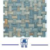 Mosaico Mixed naturale dell'ardesia di colore per la parete della cucina o della stanza da bagno