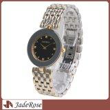 Relógio de pulso de quartzo do aço inoxidável da forma para senhoras