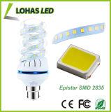 85-240V 3000K-6000K 16W B22 나선형 모양 LED 전구