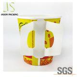 L'impression personnalisée à paroi simple tasse de café chaud papier avec couvercle et la poignée