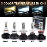 X3, H7, H11 9005 9006 H10, H11 светодиодные лампы фар 6000лм фары 6000K Auto автомобильная лампа светодиодные лампы