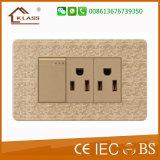 American Standard 2g 2 pinos do soquete do interruptor eléctrico