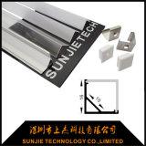 De hoek zette LEIDEN van het Aluminium Profiel voor LEIDEN Lineair Licht met Vierkante Dekking op
