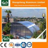 太陽カバープールのプールガラス機構