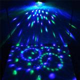 Mini lumière magique en cristal de disco de bille de RVB 3 *1W DEL avec à télécommande