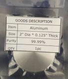 Blanco de aluminio de la pureza elevada para la capa de la farfulla del vacío