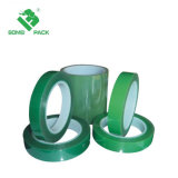 Bande adhésive d'animal familier de vert de température élevée de bande de film de polyester de silicones