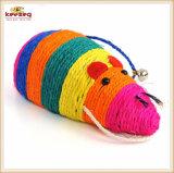 애완 동물 장난감 또는 장난감 (KB3045)를 긁어 자연적인 사이살 삼 마우스 다채로운 고양이