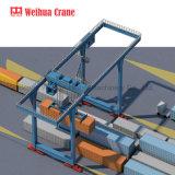 Rmg 40t 50t auf Schienen doppelter Träger-Portalkran-Behälter-Portalkran
