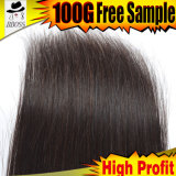 Cheveu brésilien normal de Vierge de la vente en gros 10A de cheveux humains de 100%