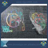 De transparante Zelfklevende Sticker van het Hologram voor Kaart