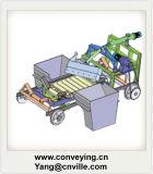 コンベヤ・システムのための給炭機のコンベヤーの送り装置