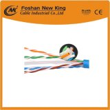 Fábrica de China FTP/UTP Cat5e Cable LAN o cable de red 4X2X0.5mm Bc pasar Fluke Tia prueba de canal