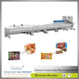 Trois Servo formant automatique de remplissage et de l'emballage alimentaire d'étanchéité de la machine d'oeufs d'équipement de boulangerie Biscuit Galette de machine d'emballage de rouleau