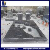 De dubbele Grafstenen van het Graniet voor Grafstenen met Randen