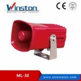 Alarme eletrônico 100dB 10W DC12V 24V do carro dos tons Ml-25 8