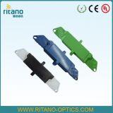 Adaptador de fibra óptica del cable de E2000/Upc de 0.15dB azul