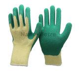 Nmsafety 10g полиэстер Shell упор для рук с покрытием из латекса зеленого цвета верхней части работы вещевого ящика