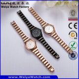 Wristwatch повелительниц кварца сплава OEM/ODM способа вскользь (Wy-104B)