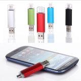 Aluminium OTG USB Pendrive voor Mobiele Smartphone (yt-1201-03)