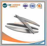 Tiras de placas de carburo de tungsteno