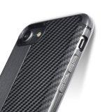 TPU flexível Slim Fit Caso Design em fibra de carbono leve Contracapa antichoque para iPhone 7/8/X
