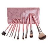Professionista 11 parte di colore rosa caldo di trucco dell'insieme di spazzola con il caso dentellare dell'organizzatore dell'unità di elaborazione