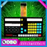 Metallabdeckung-Schild-Membranschalter-Tastatur mit transparentem Fenster