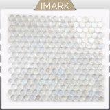 Кристально чистый белый Пенни раунда стеклянной мозаики для ванной комнаты кафелем оптовая торговля