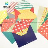 La invitación de encargo de la impresión de la insignia envuelve las tarjetas de felicitación de la alta calidad que envían sobres