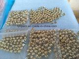 Heißer Verkaufs-kerbten metallische Goldwolframraupen Durchmesser 4.6mm