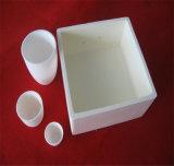 Resistência a altas temperaturas de cor branca pote de cerâmica de sílica fundida