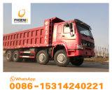 De beste Prijs Gebruikte Vrachtwagens van de Stortplaats HOWO met 12 Goede Voorwaarden van de Kipper van Banden