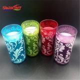 Velas de cristal coloreadas impresión del tarro para la alta calidad