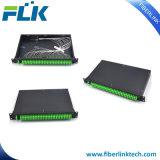 Пульт временных соединительных кабелей однорежимное Sc/LC/St/FC Splitter PLC держателя шкафа оптического волокна