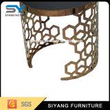 別荘のプロジェクトのための最も新しい金の金属の側面のコーヒーテーブル