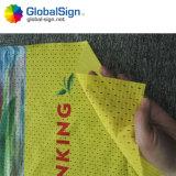 Una bandiera della maglia del poliestere stampata lato