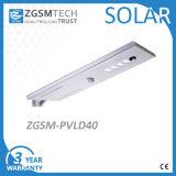 Sensor de PIR 30W 40W 50W 60W Luz Rua Solar Integrada com a bateria e o painel construído