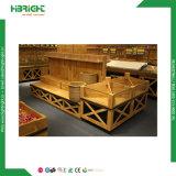 Cremagliera di legno quadrata di Vegetable&Fruit della cremagliera di visualizzazione del visualizzatore