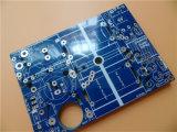 3oz panneau de cuivre lourd de carte de la carte à circuit imprimé 1.6mm avec le masque bleu