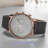 Custom cuero damas relojes de cuarzo Wist aleación, Mujer Watch (WY-17044)