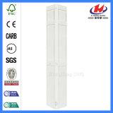 Porte Bi-Fold de double porte solide en bois de lame de la Thaïlande